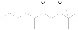 6-Methyl-2,2-dimethyl-3,5-decanedione, 98%, CAS: Unregistered